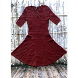 NWOT Mossimo maroon skater style sweater dress
